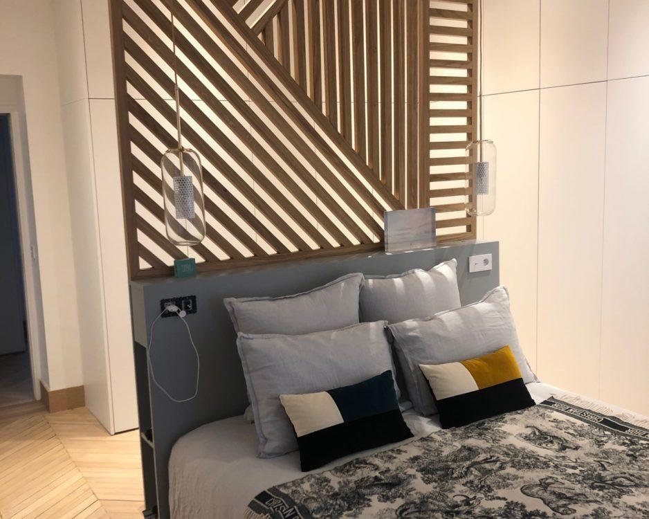 Espace Tête de lit avec claustra